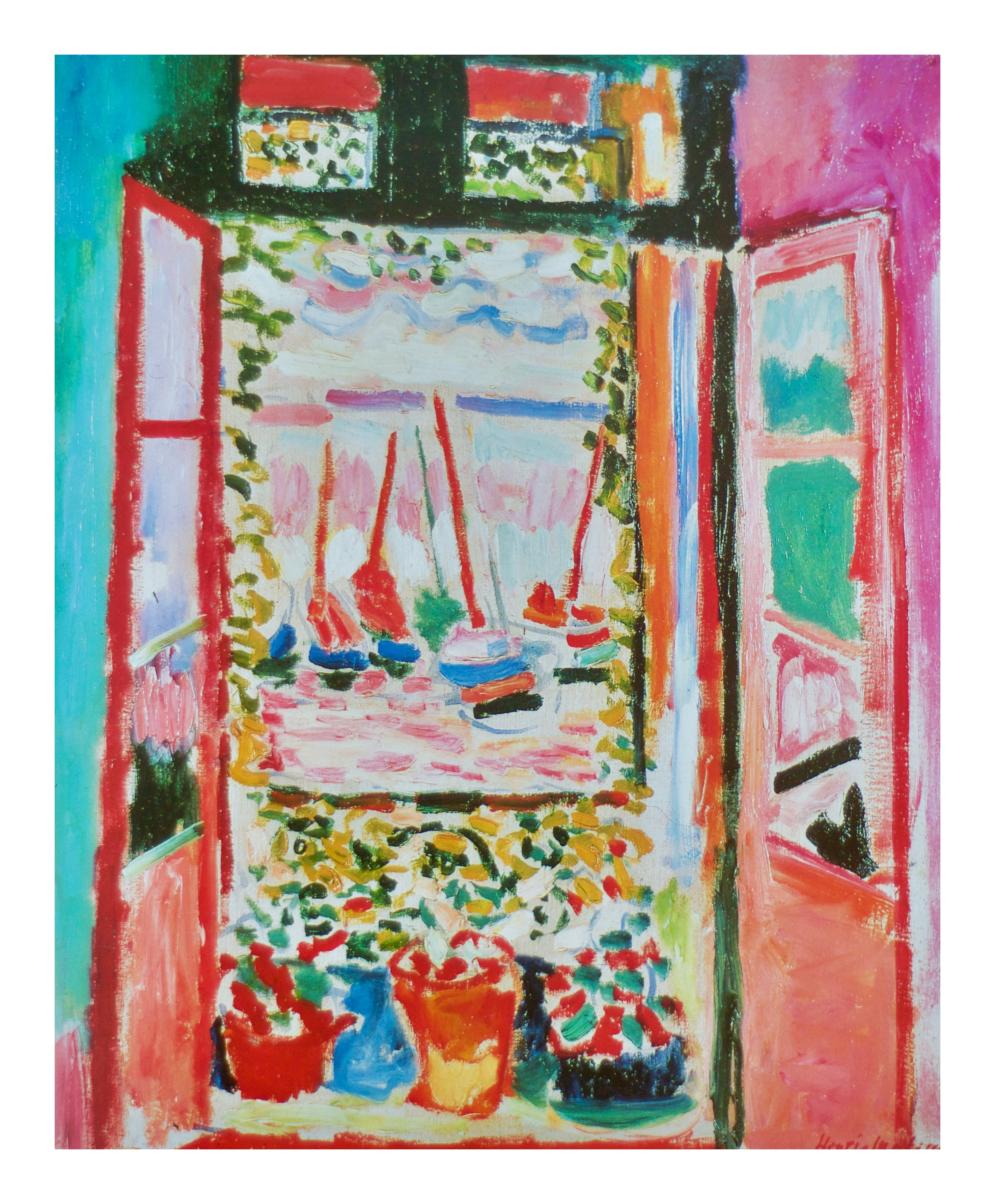 Open window matisse for Matisse fenetre ouverte collioure