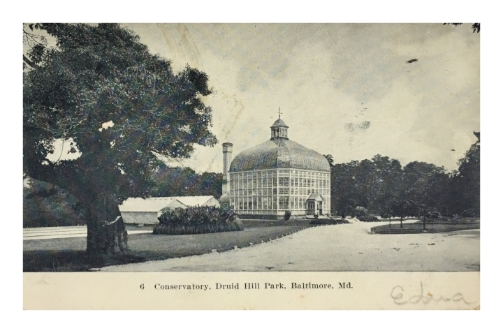 onthresholds_old post card of conservatory