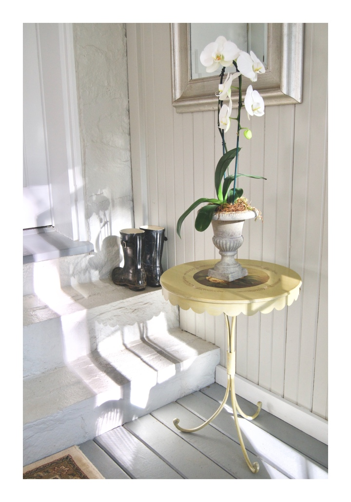 onthresholds_mudroom with orchid and boots